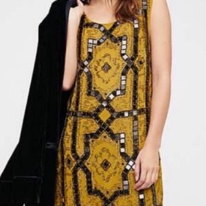 Free People Olive Green Speakeasy Dress $168